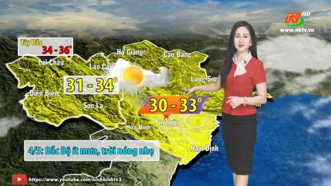 Bản tin Dự báo thời tiết mới nhất ngày - 4/5/2021