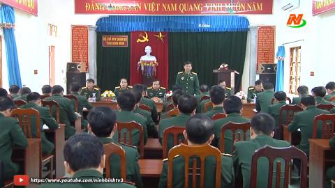Bộ chỉ huy quân sự tỉnh triển khai nhiệm vụ chính trị năm 2021