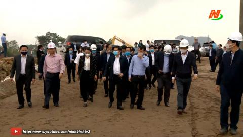 Bộ trưởng Bộ GTVT kiểm tra tiến độ 2 Dự án tại Ninh Bình