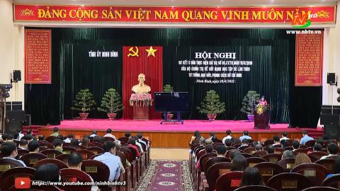 BTV tỉnh ủy sơ kết 5 năm thực hiện chỉ thị 05 của bộ chính trị
