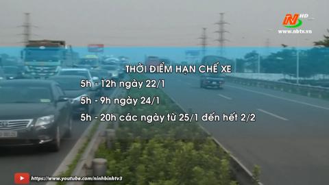 Cấm xe tải, xe khách vào tuyến đường phục vụ Đại hội Đảng