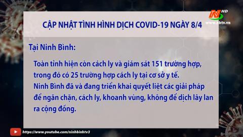 Cập nhật Covid -19 mới nhất ngày 08/4 - trong nước và tỉnh Ninh Bình