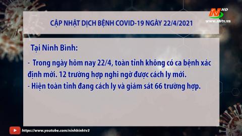 Cập nhật Covid 19 mới nhất ngày 22/4- trong nước và tỉnh Ninh Bình
