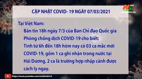 Cập nhật Covid 19 mới nhất ngày 7/3 - trong nước và tỉnh Ninh Bình