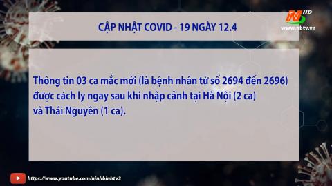 Cập nhật COVID-19 Sáng 12.4