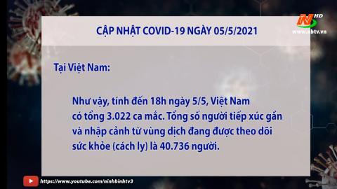 Cập nhật COVVID-19 tối ngày 5/5/2021