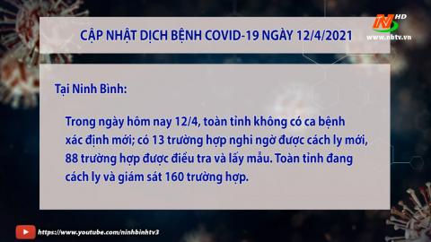 Cập nhật tình hình COVID - 19  ngày 12.4
