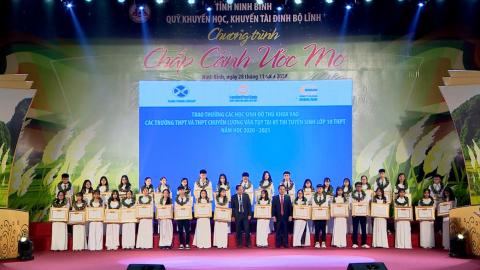 Chương trình Chắp cánh ước mơ năm 2020 - Quỹ khuyến học, khuyến tài Đinh Bộ Lĩnh tỉnh Ninh Bình 2020