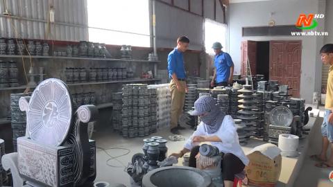 Công nghiệp và Thương mại:Phát triển làng nghề đá mỹ nghệ Ninh Vân