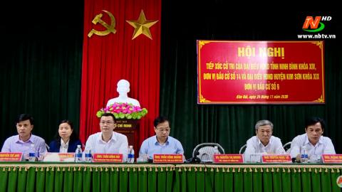 Đại biểu HĐND tỉnh tiếp xúc cử tri huyện Kim Sơn