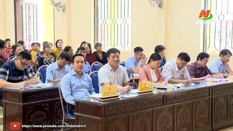 Đại biểu HĐND tỉnh tiếp xúc cử tri huyện Yên Khánh