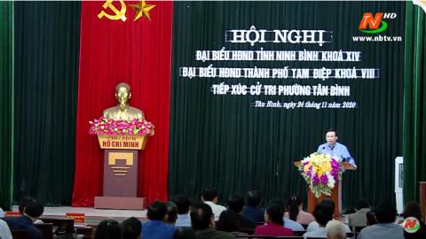 Đại biểu HĐND tỉnh tiếp xúc cử tri tại TP. Tam Điệp
