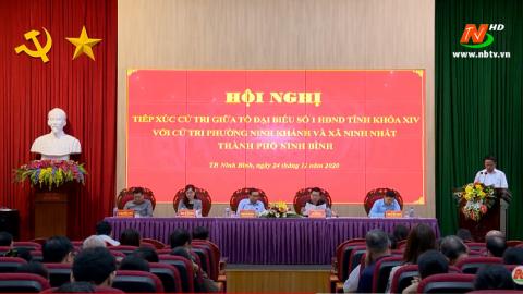 Đại biểu HĐND tỉnh tiếp xúc cử tri thành phố Ninh Bình