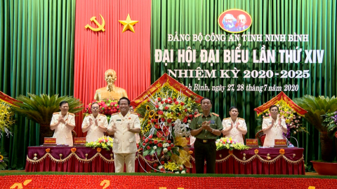 Đại hội đại biểu Đảng bộ Công an tỉnh lần thứ XIV