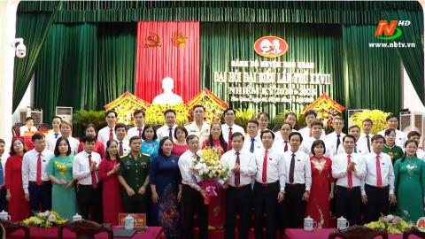 Đại hội đại biểu Đảng bộ huyện Nho Quan lần thứ XXVII thành công tốt đẹp