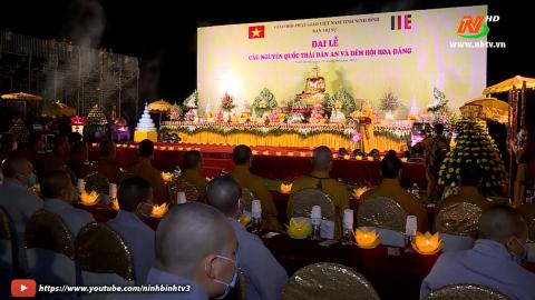 Đại lễ cầu nguyện quốc thái dân an và đêm hội hoa đăng.