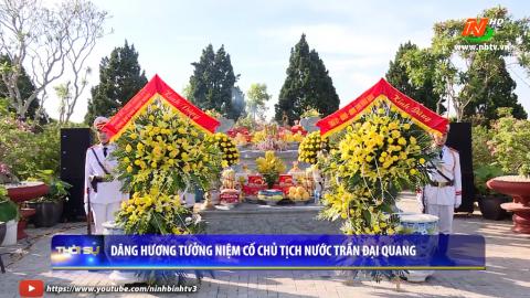 Dâng hương tưởng niệm cố chủ tịch nước Trần Đại Quang