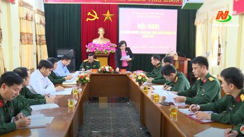Đảng ủy quân sự huyện Yên Mô ra nghị quyết lãnh đạo thực hiện nhiệm vụ năm 2021