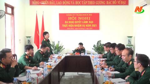 Đảng ủy trung đoàn 855 ra nghị quyết lãnh đạo nhiệm vụ năm 2021