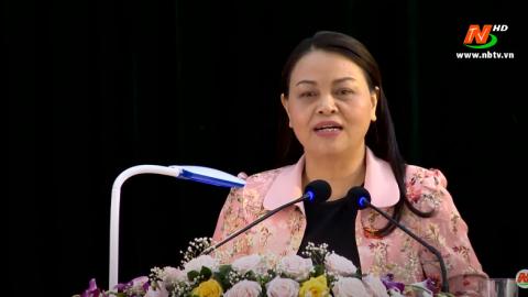 Đoàn ĐBQH tỉnh tiếp xúc cử tri huyện Yên Mô