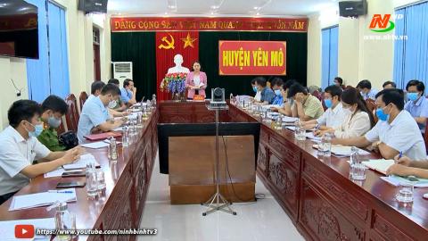 Đoàn kiểm tra số 1: Kiểm tra công tác chuẩn bị bầu cử tại huyện Yên Mô.