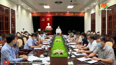 Đoàn kiểm tra số 3: Kiểm tra công tác chuẩn bị bầu cử tại Thành phố Ninh Bình.