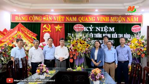Đồng chí Bí thư Tỉnh ủy chúc mừng ngày truyền thống ngành Kiểm tra Đảng