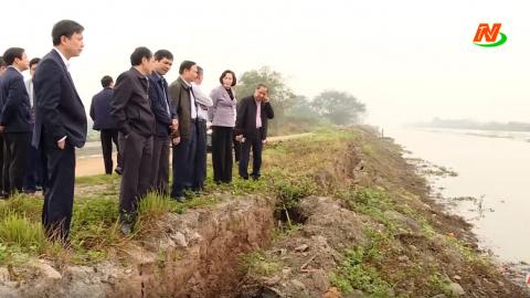 Đồng chí Bí thư Tỉnh ủy kiểm tra sản xuất, phòng chống lụt bão và dịch bệnh Covid-19