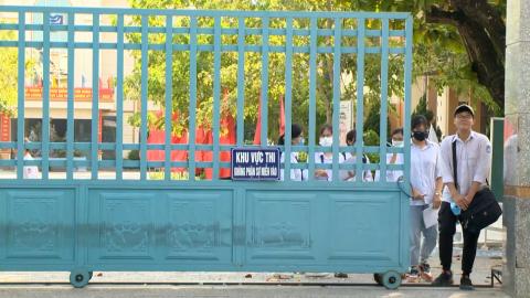 Đồng chí Tống Quang Thìn kiểm tra công tác thi tốt nghiệp THPT năm 2020
