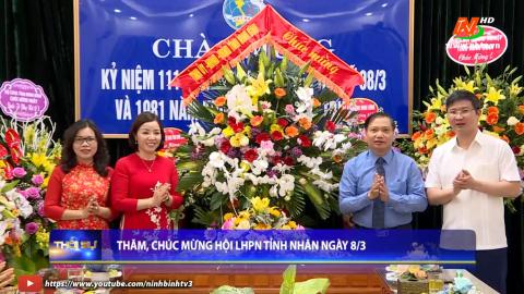 Đồng chí Trần Hồng Quảng thăm, chúc mừng Hội LHPN  tỉnh nhân ngày 8/3