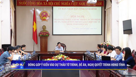 Đóng góp ý kiến vào Dự thảo Tờ trình, Đề án, Nghị quyết trình HĐND tỉnh