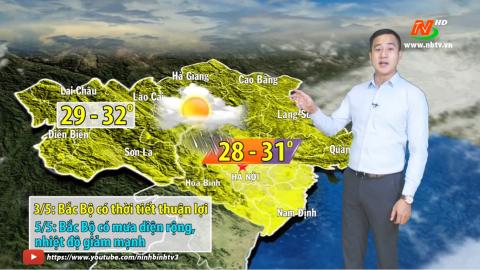 Dự báo thời tiết đêm 02/5 ngày 03.5.2021