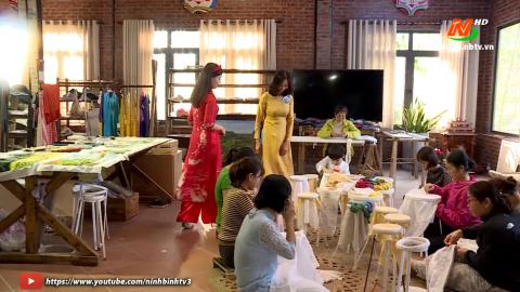Du xuân cùng NTV: Làng nghề thêu ren Văn Lâm vào xuân