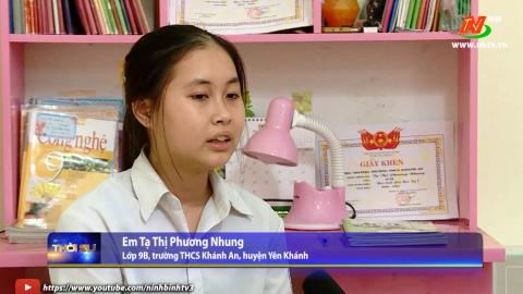 Em Tạ Thị Phương Nhung học Bác ở tinh thần vượt khó.