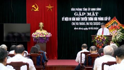 Gặp mặt 90 năm ngày truyền thống Văn phòng cấp ủy