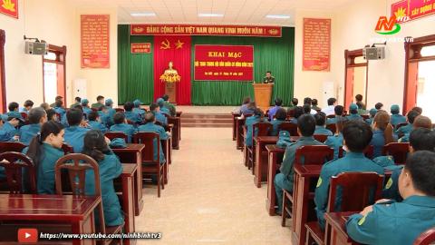 Gia Viễn tổ chức hội thao trung đội Dân quân tự vệ.