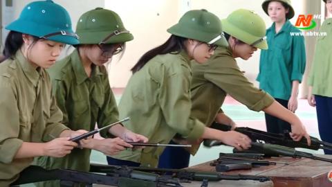 Giáo dục quốc phòng an ninh:Kim Sơn nâng cao chất lượng giáo dục quốc phòng an ninh trong trường học
