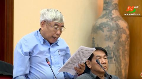 Góp ý vào Dự thảo Báo cáo chính trị trình Đại hội đại biểu Đảng bộ tỉnh lần thứ XXII