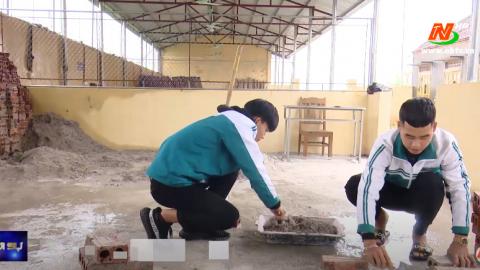 Hai học viên đạt giải nhất hội thi tay nghề cấp Bộ và ước mơ trở thành kỹ sư xây dựng