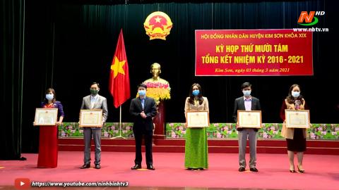 HĐND huyện Kim Sơn tổng kết nhiệm kỳ 2016-2021