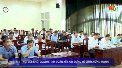 Hội CCB khối CQ&DN tỉnh đoàn kết xây dựng tổ chức vững mạnh