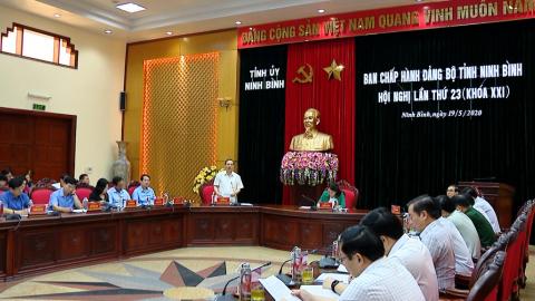 Hội nghị lần thứ 23 Ban Chấp hành Đảng bộ tỉnh khóa XXI