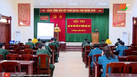 Hội thi báo cáo viên giỏi năm 2021 trong lực lượng vũ trang tỉnh.