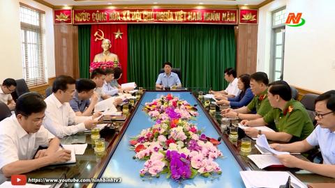 Họp Ban bầu cử ĐBQH khóa XV, đơn vị bầu cử số 2 tỉnh Ninh Bình