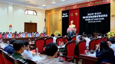 Họp báo thông tin kết quả Đại hội đại biểu Đảng bộ Tỉnh lần thứ XXII