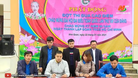 Huyện đoàn Nho Quan phát động thi đua chào mừng Đại hội XIII của Đảng