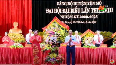 Khai mạc Đại hội đại biểu Đảng bộ huyện Yên Mô lần thứ XVIII