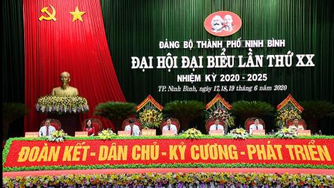Khai mạc Đại hội đại biểu Đảng bộ thành phố Ninh Bình lần thứ XX, nhiệm kỳ 2020 - 2025