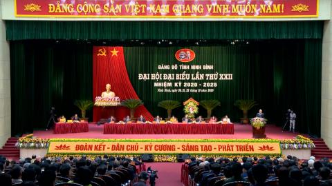 Khai mạc Đại hội Đại biểu Đảng bộ tỉnh Ninh Bình lần thứ XXII, nhiệm kỳ 2020 - 2025