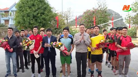 Khai mạc giải bóng chuyền nam Huyện Hoa Lư 2020